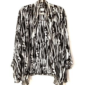 Alfred Dunner plus size black and white blouse